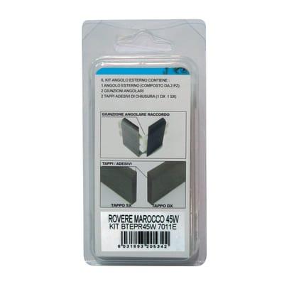Angolare esterno in kit scuro 5 x 11 cm Sp 20 mm