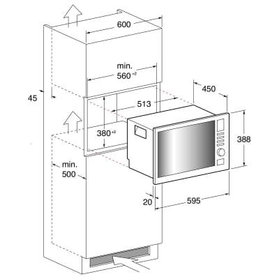Microonde combinato 2 funzioni INDESIT MWI 222.2 X